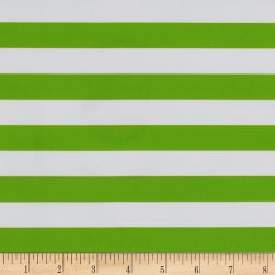 Oilcloth Stripes Green Fabric
