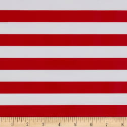 Oilcloth Stripes Red Fabric