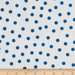Oilcloth Polka Dot White/Blue