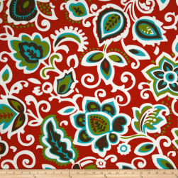 Premier Prints Indoor/Outdoor Faxon Rojo Fabric