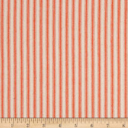 "44"" Ticking Stripe Canvas Twill Orange"