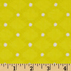 Michael Miller Lattice Cotton Eyelet Starfruit Fabric