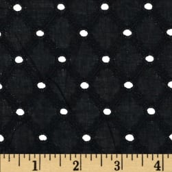 Michael Miller Lattice Cotton Eyelet Black