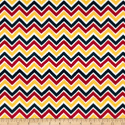 Shannon Minky Cuddle Classic Mini Zig Zag Red/Gold/Slate