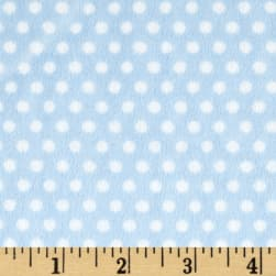 Shannon Minky Cuddle Swiss Dot Baby Blue Fabric