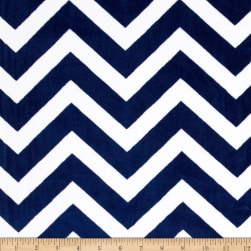 Shannon Minky Cuddle Chevron Midnight Blue/Snow Fabric