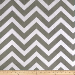 Shannon Minky Cuddle Chevron Charcoal/Snow Fabric