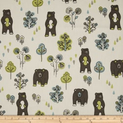 Premier Prints Honey Bears Macon Mantis Fabric