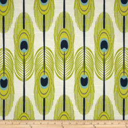 Premier Prints Feathers Slub Canal Fabric