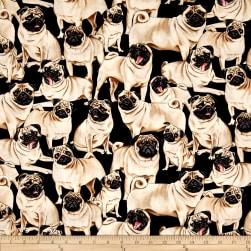 Timeless Treasures Pugs Multi Fabric
