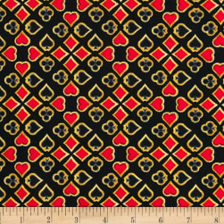 Kanvas Casino Royale Suits Foulard Black Fabric