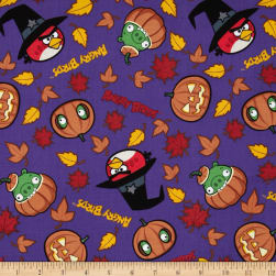 Angry Birds Spooky Angry Birds Purple Fabric