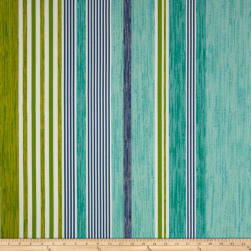 P Kaufmann Indoor/Outdoor The Right Stripe Jade Fabric