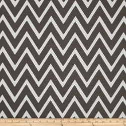 Swavelle/Mill Creek Indoor/Outdoor Zapallar Chevron Charcoal Fabric