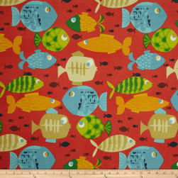 Swavelle/Mill Creek Indoor/Outdoor Small Fry Sangria Fabric