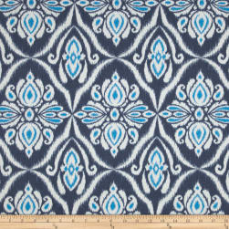 Terrasol Jaipur Indoor/Outdoor Ikat Indigo Fabric