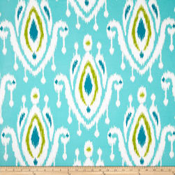 Terrasol Indoor/Outdoor Surat Peacock Fabric