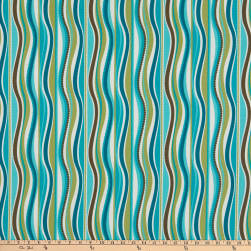 Terrasol Indoor/Outdoor Wave Peacock Fabric