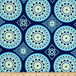 Terrasol Indoor/Outdoor Sundial Navy Fabric