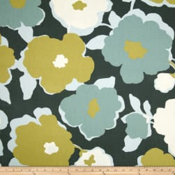 Robert Allen @ Home Top Floral Charcoal Fabric