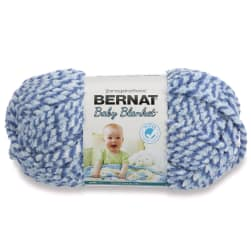 Bernat Baby Blanket  Yarn (47128) Blue Twist