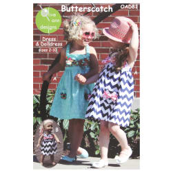 Olive Ann Designs Butterscotch Dress & Doll Dress Pattern