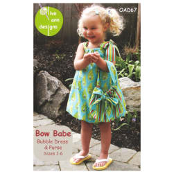 Olive Ann Designs Bow Babe Bubble Dress & Purse Pattern