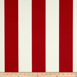 Richloom Solarium Outdoor Cabana Stripe Red Fabric