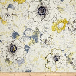 Richloom Ellery Floral Denim Fabric