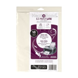 EZ Print Lite Heat'n Bond Iron On Adhesive Sheets
