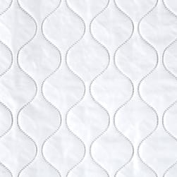 Quilted Vinyl Solid White Fabric