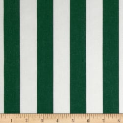 Sunbrella Outdoor Canvas Mason Stripe Forest Green Fabric