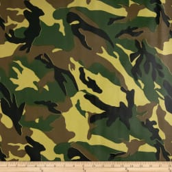 Oilcloth Camouflage Green Fabric
