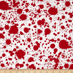 Classic Horror Flims Blood Splatter Red/White Fabric