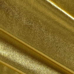 Polyester Spandex Lame Knit Gold