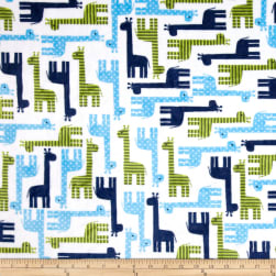 Shannon Kaufman Minky Cuddle Giraffe Midnight Fabric