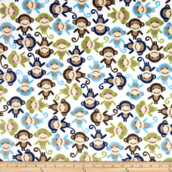 Shannon Kaufman Minky Cuddle Monkey Midnight Fabric