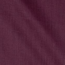 European 100% Linen Beets Purple Fabric