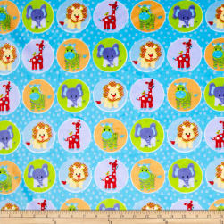 Minky Circus Animal Blue