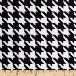 Minky Houndstooth Black/White Fabric