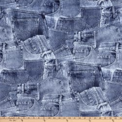 Minky Denim Wash Pockets Blue