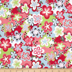 Minky Happy Talk Pink/Lime Fabric