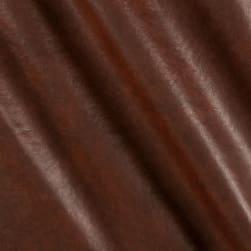 Faux Leather Buffalo Brown Print Fabric
