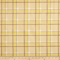 Oilcloth Scottish Plaid Yellow Fabric