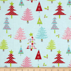 Riley Blake Christmas Basics Trees Blue Fabric