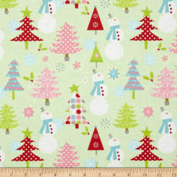 Riley Blake Christmas Basics Main Lime Fabric