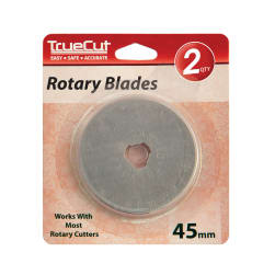 TrueCut Rotary Cutter Replacement Blades 45mm 2/Pkg