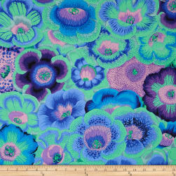 Kaffe Fassett Collective Meadow Gloxinia's Blue Fabric