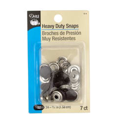 "Heavy Duty Snaps 5/8"" Brown"