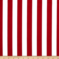 Broadcloth Blend Stripe Red/White Fabric